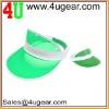twon tone transparent plastic sun visor cap