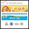 3D fashional statinery children ruler with PEP material