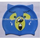 2011 fashionable silicone swim caps for gifts