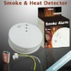 Photoelectronic Smoke Fire and Heat Detector Alarm System w DC9V AC110/220V Power Supply AT-SHD-AD
