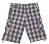 Man Plaid Yarn Dyed Shorts 100% Cotton