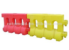 OEM service flexible sizes and colors rotomolding street barriers