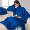 snuggie fleece blanket with two pocket,and sleeve