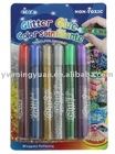 Lovely 15ml glitter glue pen for kids painting
