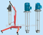 movable high shear dispersing homogenizing emulsifier mixer