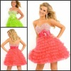 high quality sweetheart beaded top tiered short cocktail dress P-ED-281