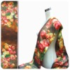 woman noble Silk Oil Painting Scarves with rose printed