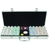 500 4 ACES 11.5g Poker Chips, Aluminum Case, 14 Dominoes!
