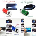 Rechargeable LED flashlight car cigarette lighter