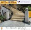 Rusty yellow granite stairs