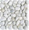 the white artificial pebbles stone