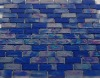 brick shape wall tile,Glass tile Blue Brick