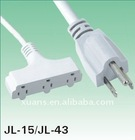 USA style UL approved JL-15/JL-43 electric 110V extension cords