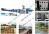 PVC wood-plastic profile extruder line