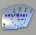 Mirrored Poker Cards Clock AM085