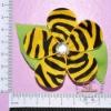 Zebra Ribbon Petaled Flower Bows Clips