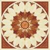 rosette hardwood medallion parquet marquetry wood flooring