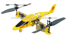 T008 Multi-function fish hawk stunt (180 Degree rotation) Remote Control aircraft, RC Helicopter with gyroscope Yellow