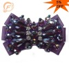 rainbow purple glass beads rhinestone trim