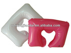 plastic U white and pink inflated pillows inflatable body pillow for travel