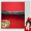 black-silver braiding metallic non-elastic rope