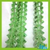 Samll glass crystal beads in bulk, peridot color, 4*6mm