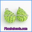 Wholesale Grass Green Rain Drop Shamballa Crystal Ball Pendant CNP-Z06