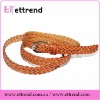 Fashion cheap braided bonded leather belt