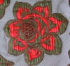 Fashion Laser Embroidery in mesh fabric