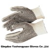 2-Sided PVC Dots Gloves, Safety Gloves, Working Gloves, Regular Weight, Natural