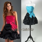 P1219 Fahsion Color Matching Mini Cocktail Dresses/Pop Ruffled Skirt Prom Dresses 2012