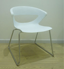 stackable molded plastic chair waiting chair