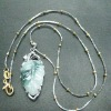 Fashion natural newest 925 Sterling silver Jade Necklace jewelry
