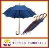 straight auto open wooden handle umbrella