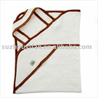organic cotton/bamboo& cotton hooded baby towel BC-BR1169