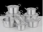 aluminium cookware pot set 7pc