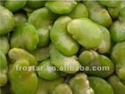 IQF Green skin broad bean flap