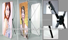 double X banner;iron tube adjustable X banner