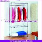 KingKara KAGR-05 Chrome Clothes Hanging Rack