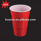 425ml beer pong cup/drink cup/red and white