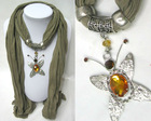 crystal new style fashion pendant for scarves