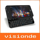 New Ultra Thin Slide-out Bluetooth Wireless Keyboard + Hard Shell Back Case Skin Cover For iphone 5 5G iphone5 Free shipping