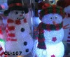 Christmas lighting decoration led lighted plastic snowman X-MAS snowman outdoor Decoration