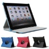 leather case For ipad2/3 360 Rotateing case for ipad2/3