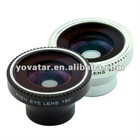 Magnetic Wide 180 degree Panoramic Fish Eye Lens For iPhone 4 HTC Mobile phone