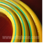 beautiful yellow pvc water garden hose with green line