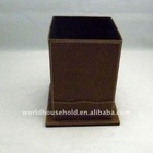 Newest style leather pretty cute storage boxes