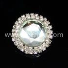 rhinestone pearls high heel shoes button embellishments WBK-1069