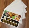 White / golden / silver PVC core for inkjet printing