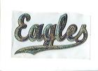 $ 1.5/pcs eagels sequins silver hotfix transfer design